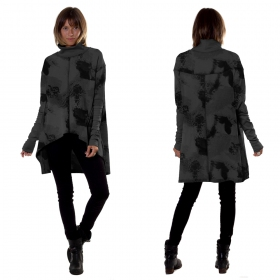 """Loki\"" long top / tunic, Grey camouflage"