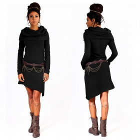 """Löou\"" sweatshirt dress, Black"