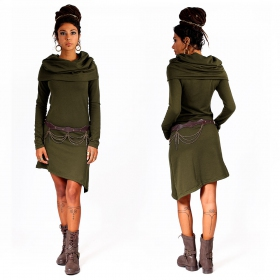 """Löou\"" sweatshirt dress, Khaki"