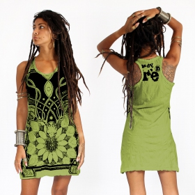"""Lotus\"" dress, Apple green"