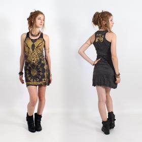 "\\\""Lotus\\\"" dress, Dark grey and gold"