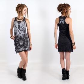 "\\\""Lotus\\\"" dress, Dark grey and silver"