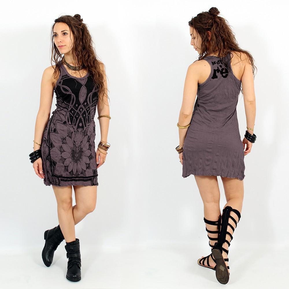 "\\\""Lotus\\\"" dress, Purple"