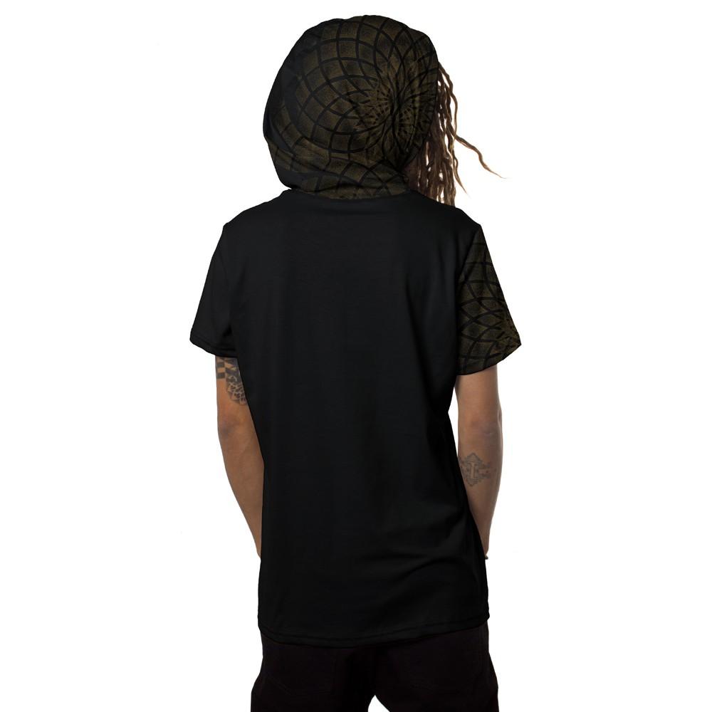 "\""Lotus\"" hooded t-shirt, Black"