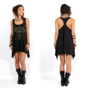 ""\""""Lotus"""" knotted tunic, Black and gold""280|280|?|en|2|acfd6f44b53ff28e7d4bede5441a1841|False|UNLIKELY|0.32125526666641235