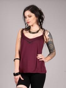 "\""Lotus Ciryandil\"" shoulder strap top, Wine"