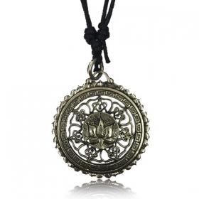 "\\\""Lotus Mandala Pali\\\"" brass necklace"