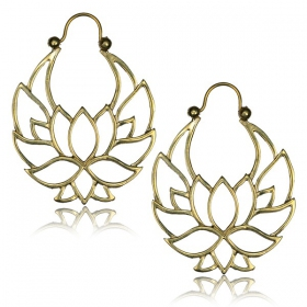 "\""Lotus Nidra\\\"" Brass earrings"