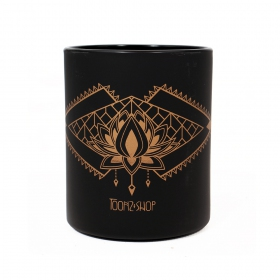 """Lotus Spirit\"" mug, Black and copper"