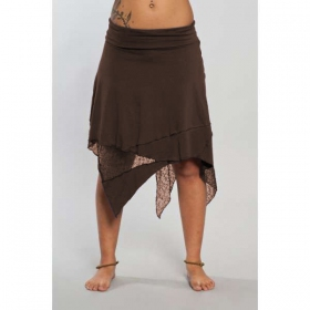 "Luna skirt ""Gitane patch\"", Brown"