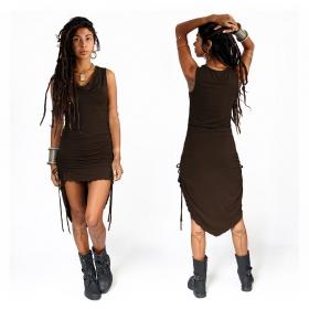 "\""Lychandra\"" long dress, Brown"