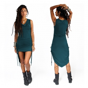 "\""Lychandra\"" long dress, Teal"