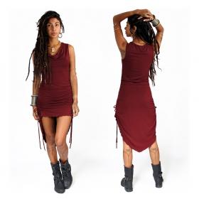 "\""Lychandra\"" long dress, Wine"