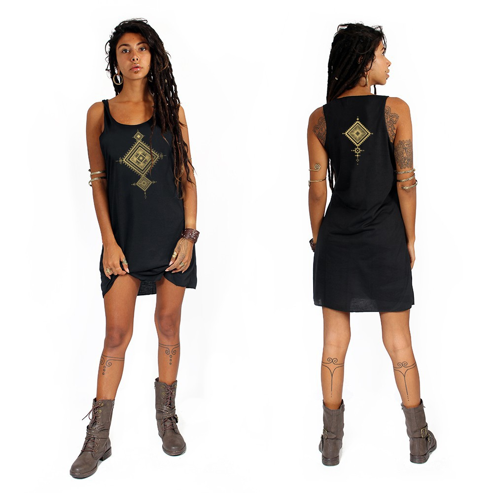 """Maaloo\"" dress, Black and Gold"