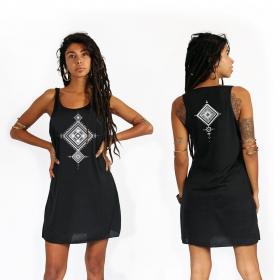 "\""Maaloo\"" dress, Black and Silver"