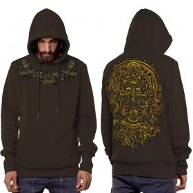 "\""Magi\"" hoodie, Dark Brown"