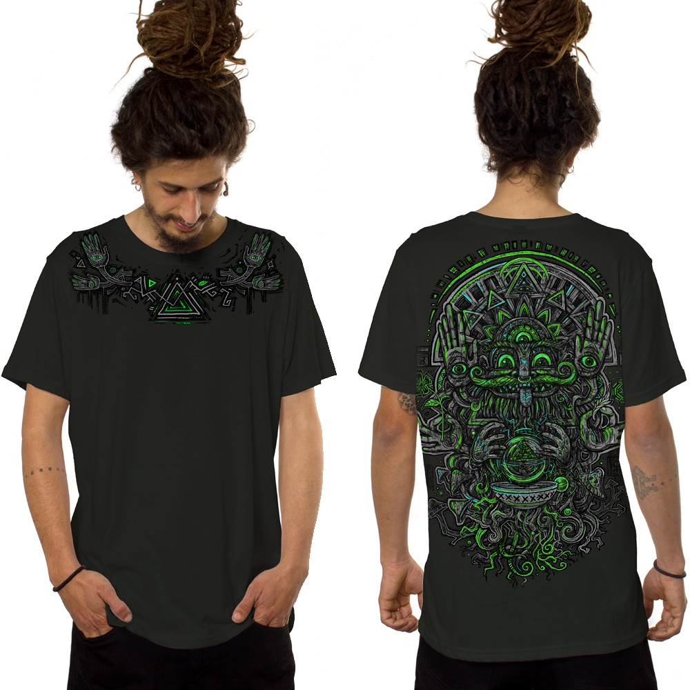 "\""Magi\"" t-shirt, Dark Khaki green"