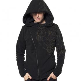 "\""Magic Circle\"" zip up hoodie, Black"