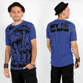 "\""Magic Mushroom\\\"" T-shirt, Electric blue"