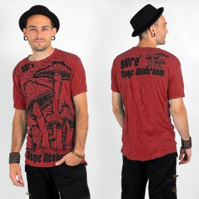 """Magic Mushroom\"" t-shirt, Red"