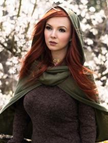"\""Magik\"" hooded cape, Olive"