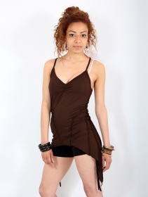"\""Mahila\"" long top, Brown"