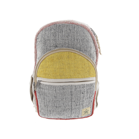 """Manang\"" backpack, saffron hemp and cotton"