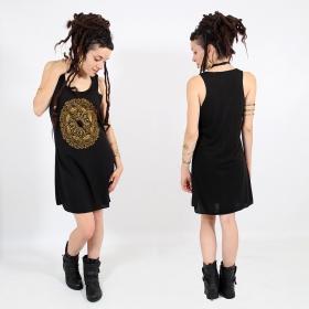 "\\\""Mandala\\\"" dress, Black and gold"