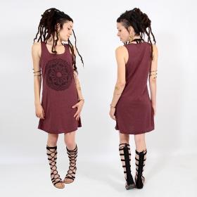 "\\\""Mandala\\\"" dress, Mottled wine and black"