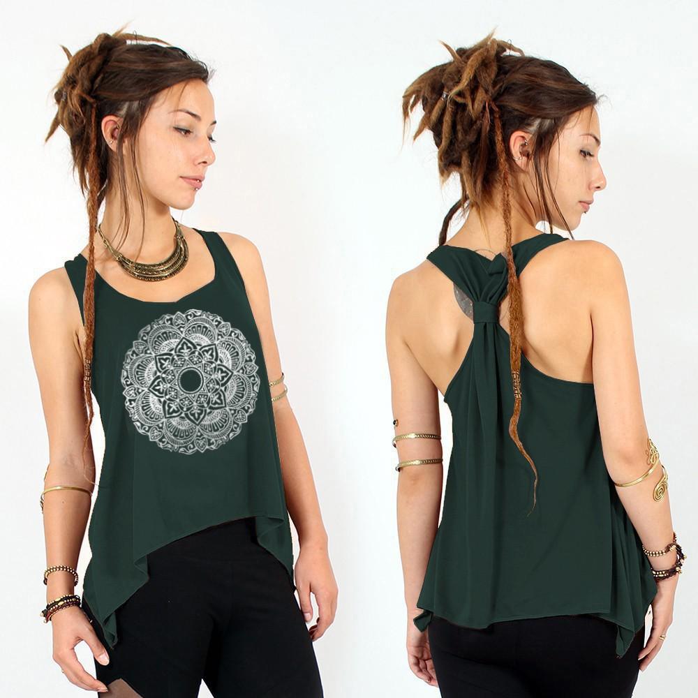 "\""Mandala\"" knotted tank top"