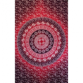 """Mandala Elephant\"" hanging, Fushia and purple"
