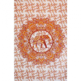 "\""Mandala Elephant haathee\\\"" hanging, Orange"