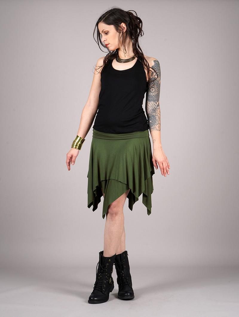 "\""Manoï\"" skirt, Khaki green"