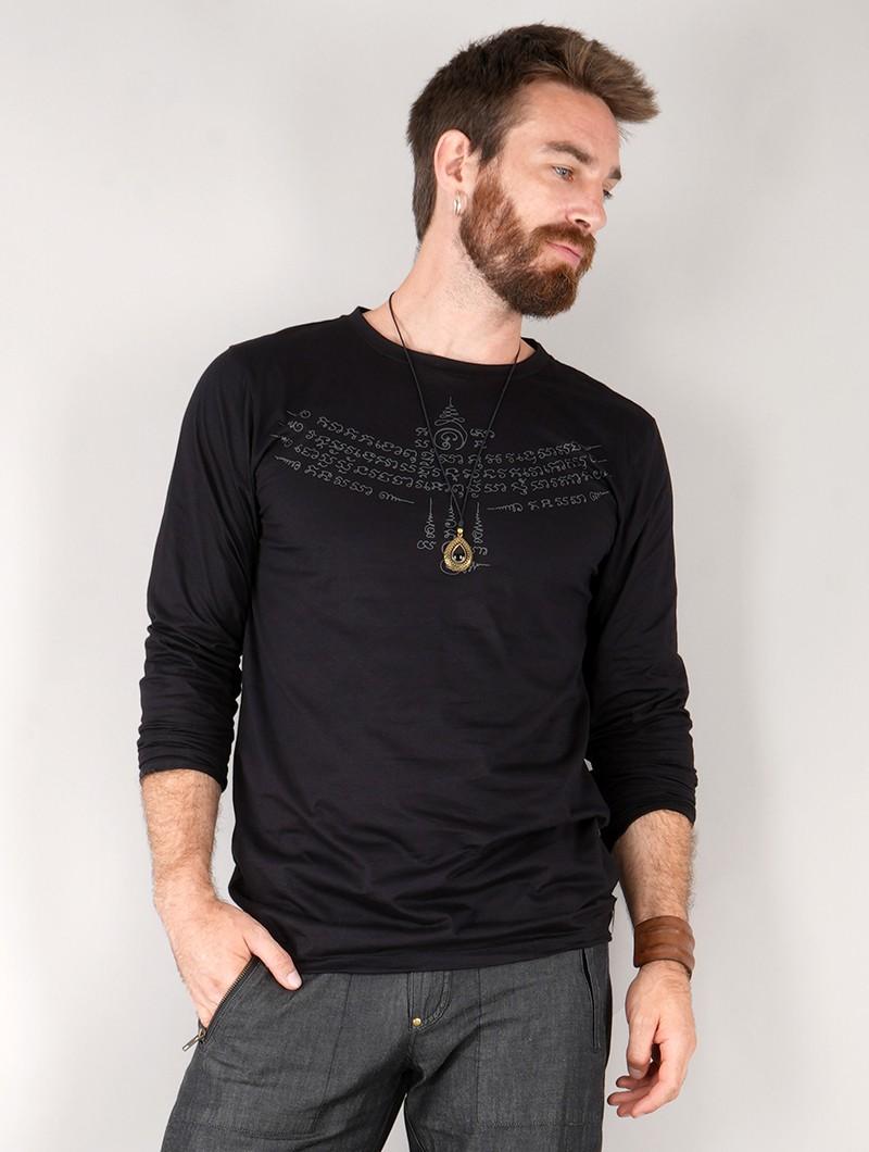 "\""Manora Bumi\"" long sleeve t-shirt, Black"