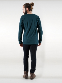 """Manora Bumi\"" long sleeve t-shirt, Teal"