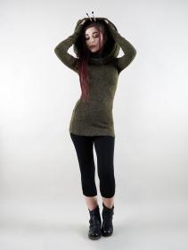 "\""Mantra\"" pullover, Khaki green black"