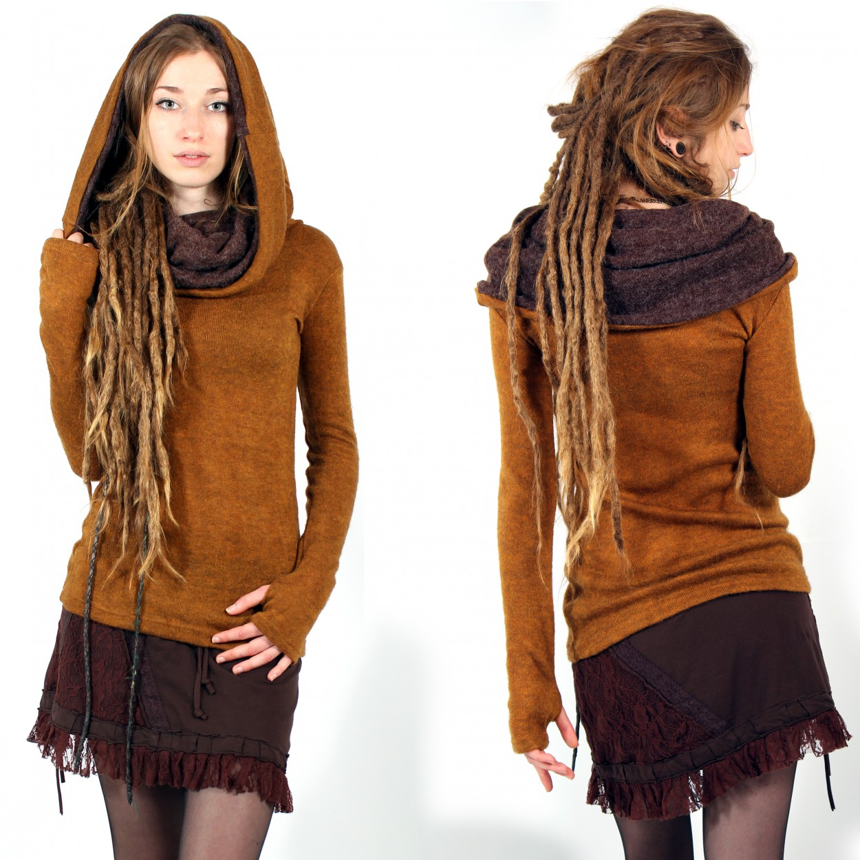"""Mantra\"" pullover, Rusty and brown"