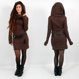"""Mantra\"" pullover dress, Brown"