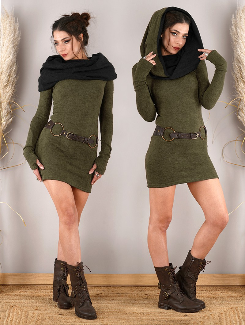 ""\""""Mantra"""" sweater dress, Army green and black""800|1060|?|en|2|b71497f3d404ee3043c8335e65fe2dfc|False|UNLIKELY|0.3354335129261017
