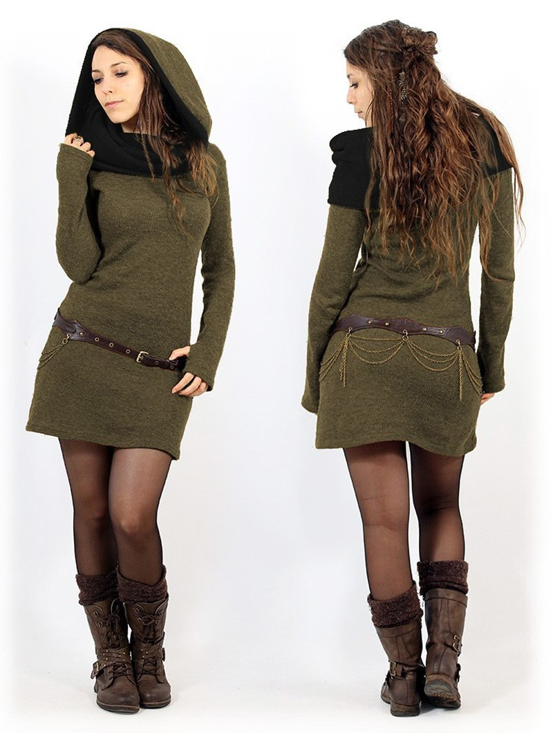 ""\""""Mantra"""" sweater dress, Army green and black""800|1060|?|en|2|f394420298a2cdc53df12c8a2aa043d7|False|UNLIKELY|0.35281455516815186