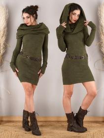 "\""Mantra\"" sweater dress, Army green"