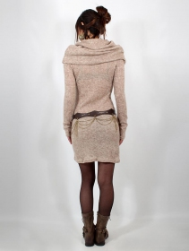 "\""Mantra\"" sweater dress, Beige"