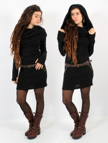 "\""Mantra\"" sweater dress, Black"