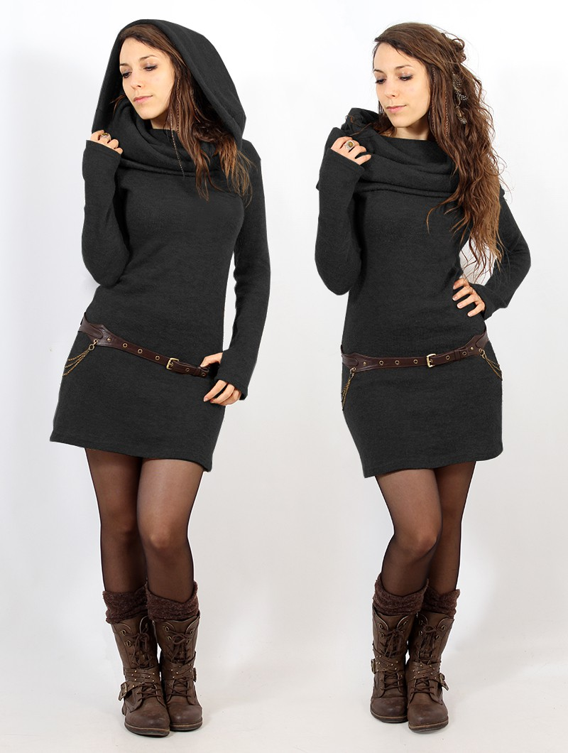 "\""Mantra\"" sweater dress, Dark grey"