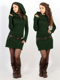 """Mantra"" sweater dress, Forest green"