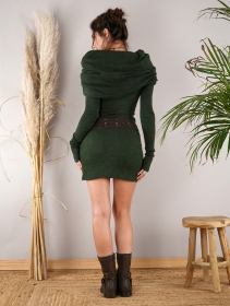 """Mantra\"" sweater dress, Forest green"