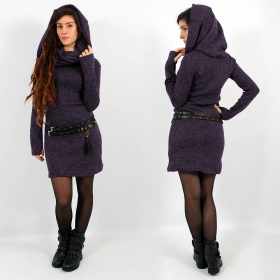 "\""Mantra\"" sweater dress, Purple"
