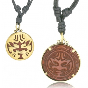 """Maori Face\"" necklace"