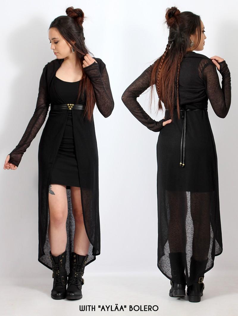 """Marrakech"" asymmetric dress, Black"