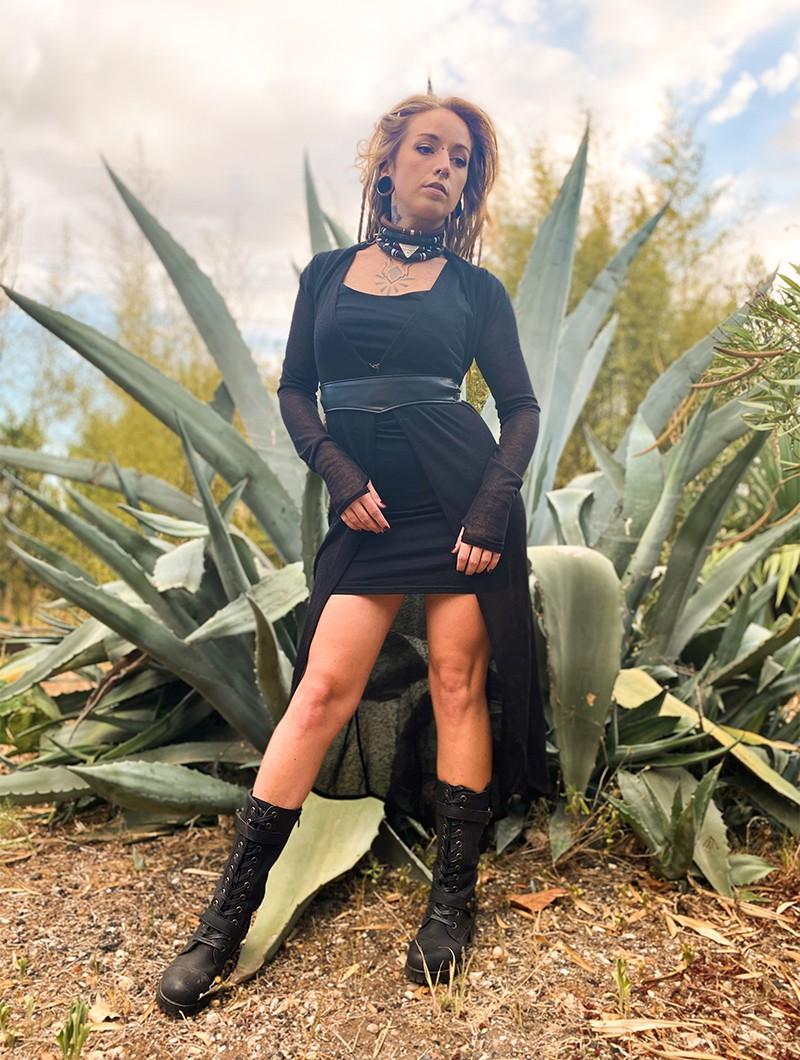 "\""Marrakech\"" asymmetric dress, Black"